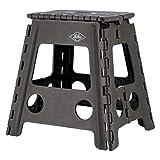 不二貿易 折りたたみ椅子 コンパクト アウトドア 踏み台 高さ39cm カーキ スツール 耐荷重150kg 86077