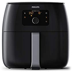 Image of Philips Kitchen Appliances Digital Twin TurboStar Airfryer XXL, with Fat Removal Technology, 3 Lbs, Black, HD9650/96: Bestviewsreviews