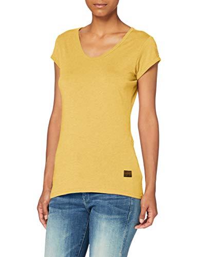 G-STAR RAW Core Eyben Slim Camiseta, Dk Gold Htr 4107-8074, XS para Mujer