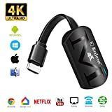 WiFi Display dongle, 2.4G Wireless 1080P HDMI Adaptador Miracast Streaming TV Stick para Mac OS/Windows/Android/iOS, Soporte Chromecast/Google Home/Netflix/Miracast/Airplay/DLNA