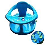 jesticam Baby Bath Seat, Baby Bathtub Seat for Sit-Up Bathing, Stable Toddler Bath Support Seat with Backrest Support and 4 Suction Cups for Baby 6-18 Months