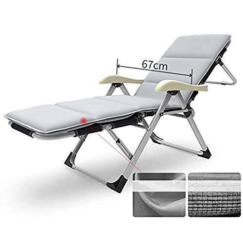 Recliner schommelstoel, Zero Gravity-fauteuil, opklapbare ligstoel, draagbaar siësta-bed, voor buitenterras, kamperen
