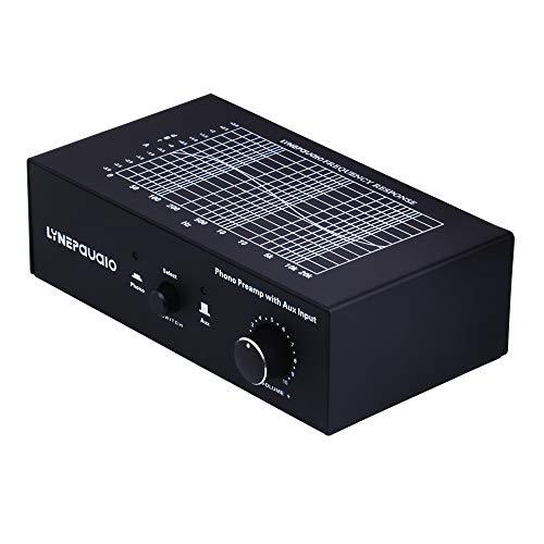 Phono amplificador de señal prephonograph con entrada auxiliar y control de volumen.