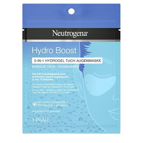 Neutrogena Hydro Boost Augenmaske, Tuchmaske mit Vitamin E & Hyaluron, parfümfrei, 5g