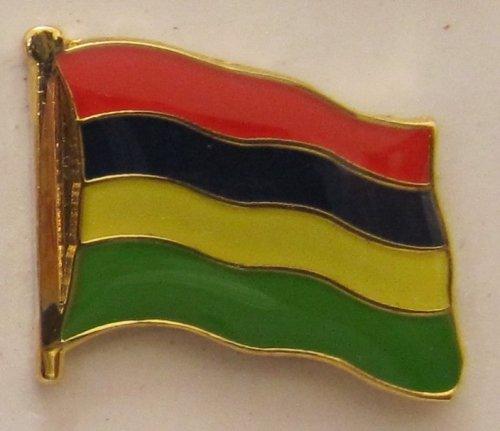 Mauritius Pin Anstecker Flagge Fahne Nationalflagge Flaggenpin Badge Button Flaggen Clip Anstecknadel