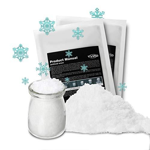 Tvird Neve Artificiale Finta Soffice Neve Bianca 300g per La Decorazione Dell'albero di Natale Simulazione Riciclabile Fiocco di Neve per Decorazioni per Feste per Feste Kit