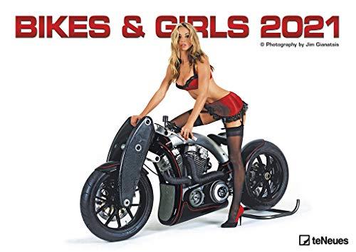 Bikes & Girls 2021 - Wand-Kalender - 42x29,7 - Frauen - Motorrad