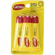 Carmex Lip Balm Tube Classic Medicated 0.35 Ounce 3 Count (10.3ml)