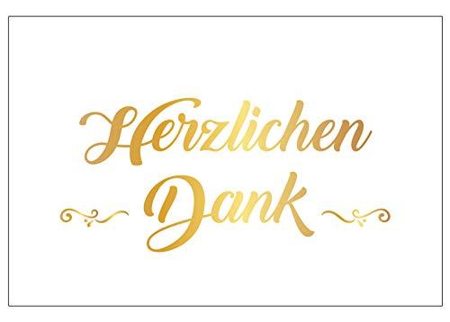 4 Stück Premium Dankeskarten (Klappkarten) mit 4 Umschlägen, Danke, Dankeschön, Karten, Dankekarten, Hochzeit, Geburt, Baby, Taufe, Abschied, Geburtstag, Jubiläum