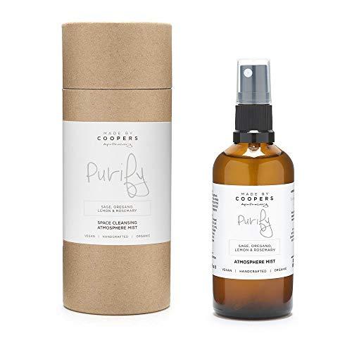Realizzato da Coopers Purify Natural Room Spray con oli essenziali di salvia, origano, limone e rosmarino (100 ml)