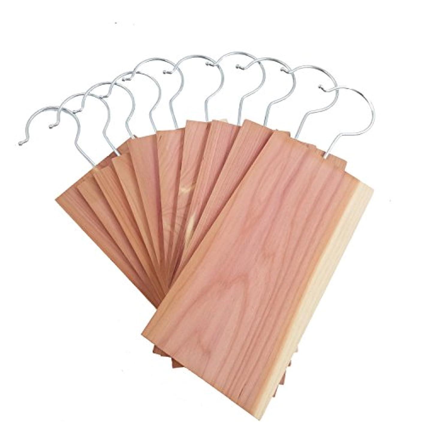 D.Jacware Cedar Moth Protection, Cedar Hang Up Set for Closets Cloth Protector (10 Pack)
