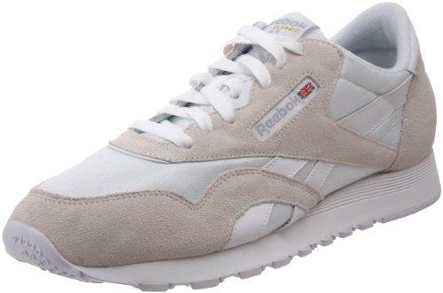 Reebok Classic Nylon Zapatilla de Running Hombre, Blanco (White / Light Grey), 40