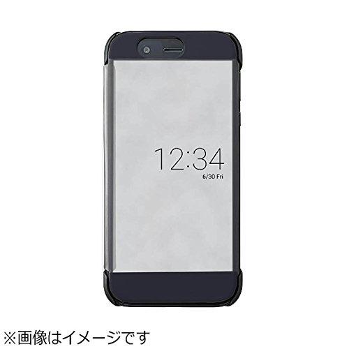 シャープ AQUOS R(SH-03J/SoftBank)用 純正カバー(マーキュリーブラック)AQUOS Frosted Cover XN-K01-B
