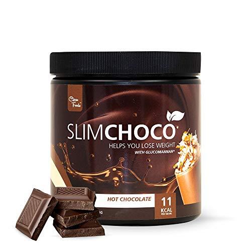 Preparado para hacer Chocolate Caliente con Glucomanano Slim Choco Clean Foods 425 g