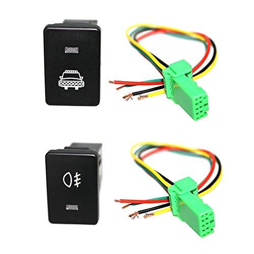#N/a Kit de Cables de Conector de Interruptor de Botón LED para - Faros Delanteros Y Luces Antiniebla
