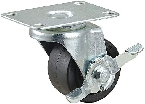 Swivel 175 Max 68% OFF New Orleans Mall lb Standard Plate Caster 1 Wheel 2 Polyolefin in