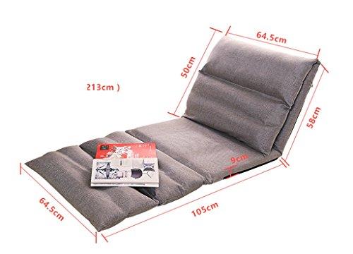 Sofa Souple et Pliable Paresseux (Couleur : Gray, Taille : 163 * 64.5cm)