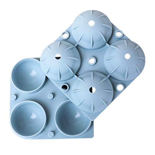 HTL Food Grade Form-Eis-Box Eis Am Stiel Mold Pulver/Blau Silikon-Eis-Hockey-Maschine Eishockey Mold Haushalt Kugel Gefrorene Eis-Würfel-Form Küchenhelfer,Blau