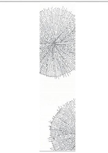 VISION S 84557 | Schiebegardine CRESTON I | halb-transparenter Stoff in Bambus-Optik | 260x60 cm | Farbe: stein