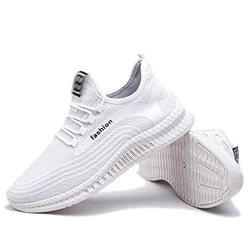 Fnho Botas de montaña Deportivas,Zapatos de Senderismo al Aire Libre,Zapatillas Deportivas cómodas, Zapatos de Fondo Suave para Manos Bajas-Blanco_44