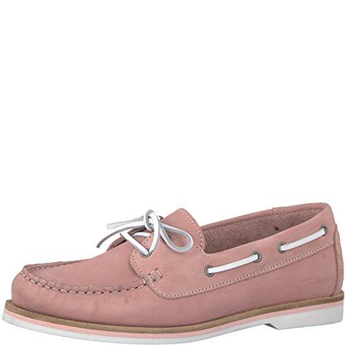 Tamaris 1-1-23616-20 Damen Bootsschuhe, Halbschuhe, Schnürschuhe, Schnürer, Sommerschuhe für die modebewusste Frau pink (LT.PINK NUBUC), EU 36
