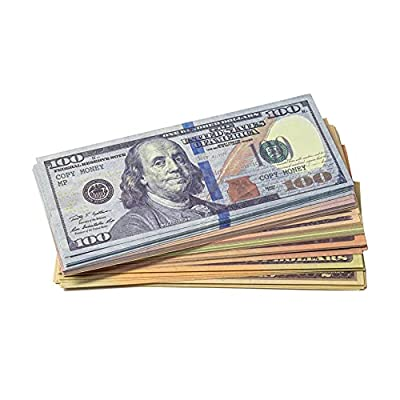Money Printer Realistic Prop Money - Double-Sided Play Money for Learning - Box of 140 Pieces, 20 Paper Banknotes of Each Denomination, 7 Denominations - Fake Dollar Bills That Look Real by Money Printer