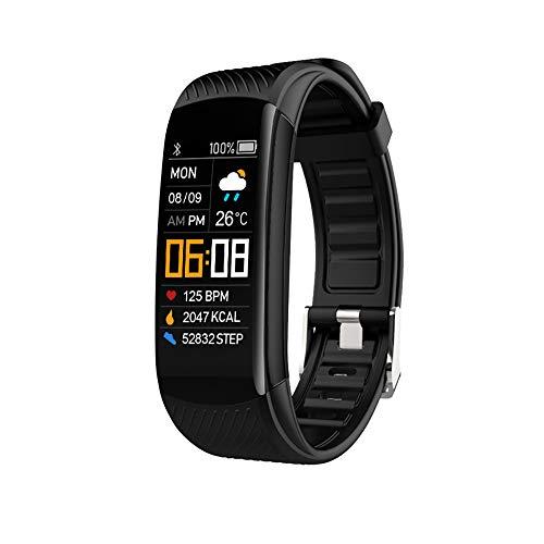 Jiudong Pulsera de seguimiento de fitness, reloj de ejercicio de salud con monitor de sueño de ritmo cardíaco, oxígeno en sangre, IP67 impermeable para Android IOS para hombres y mujeres