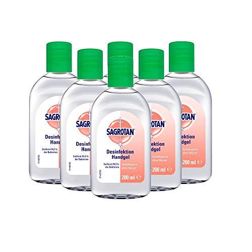 Sagrotan Hand-Desinfektionsgel Kamille - Desinfektionsmittel für die Hände – 6 x 200 ml antibakterielles Gel