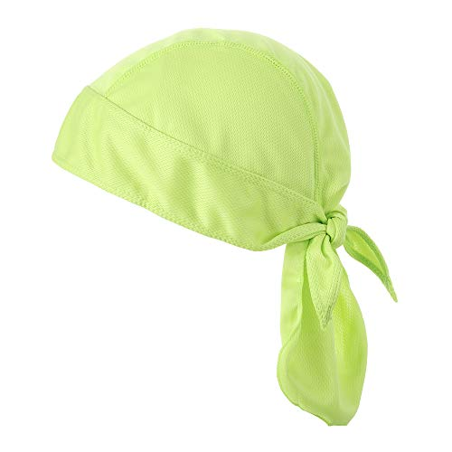 Sport Supplies Atmungsaktive Reithelm Stirnband Radfahren Bandana Fahrrad Kopftuch Piratenkappe Radkappe, grün