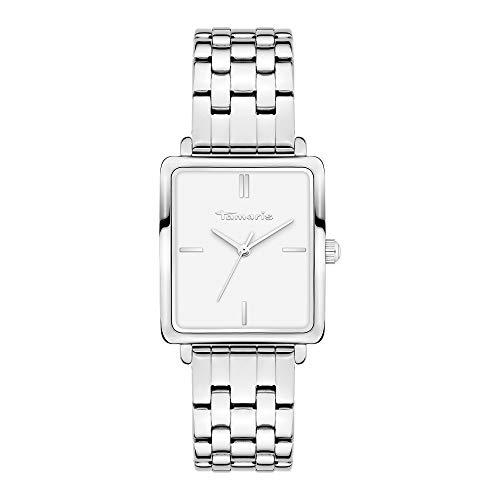 Tamaris Damen Analog Quarz Uhr mit Edelstahl Armband TT-0012-MQ