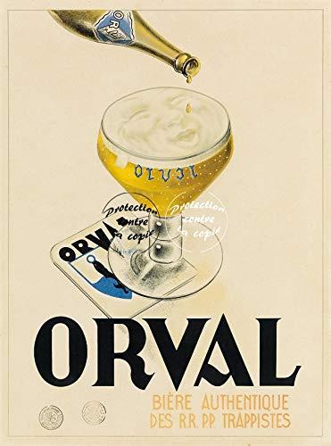 Herbé TM Orval Bier Rf87- Poster / Kunstdruck, 50 x 70 cm (auf Papier 60 x 80 cm) d1 Poster Vintage/Antik/Retro