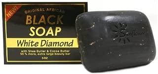 (VALUE PACK OF 3) SUNFLOWER ORIGINAL AFRICAN BLACK SOAP 5oz - WHITE DIAMOND