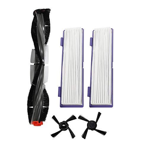 Cobeky 1 brosse combo + 2 brosses latérales + 1 filtre anti-poussière Hepa pour Neato Botvac 70e 75 80 85 Nettoyeurs robotiques pour aspirateur Neato Botvac 70e 75 80 85 Accessoires