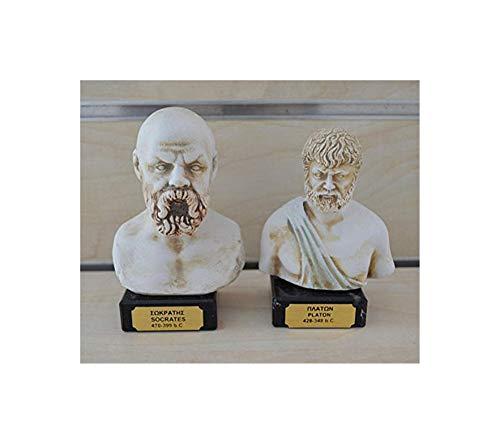 Estia Creations Sócrates Plato Escultura Busto filósofos
