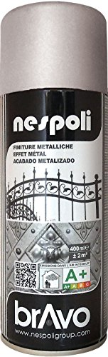 Aérosol peinture professionnelle métallisé argenté 400 ml, NESPOLI