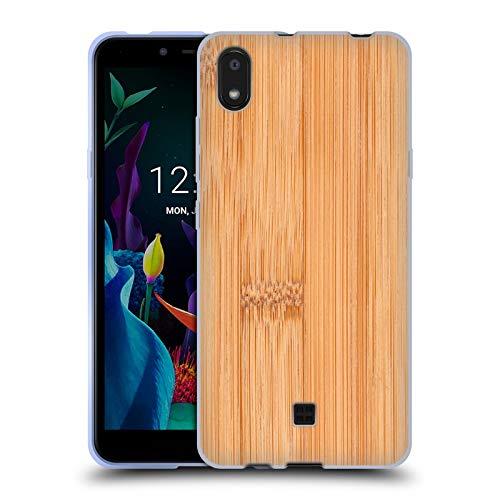 Head Hülle Designs Offiziell Offizielle PLdesign Bamboo Helles Braun Holz Und Rost Drucke Soft Gel Handyhülle Hülle kompatibel mit LG K20 (2019)