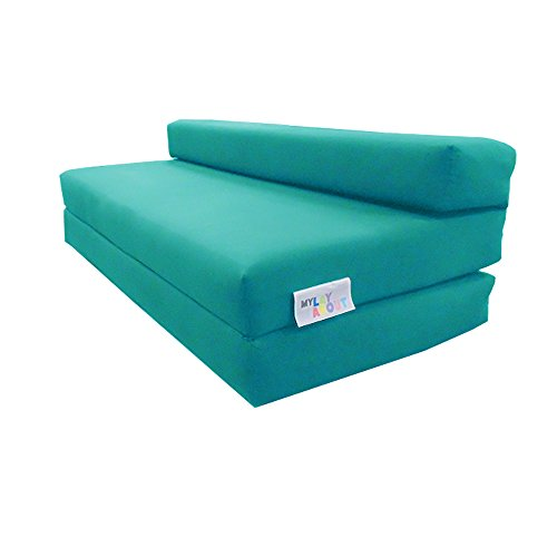 My Layabout Kids Waterproof Z Bed/Chair Sofa bed/Fold up bed Double or Single (Double | 2 Seater, Pale Blue)