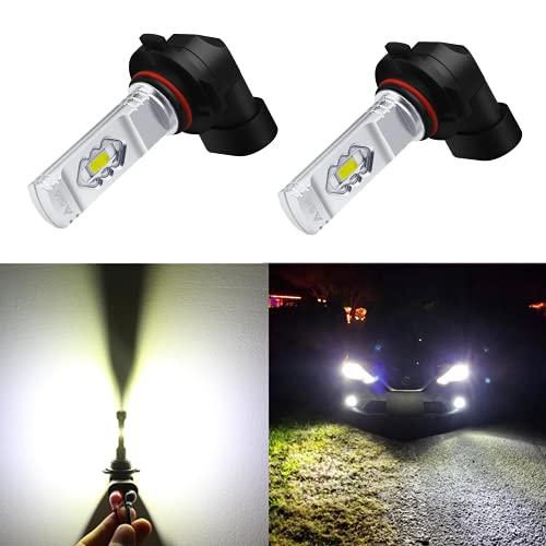 Alla Lighting 9145 H10 LED Fog Lights Bulbs PY20D 9155 9140, 6000K Xenon White ETI 56-SMD 3800...