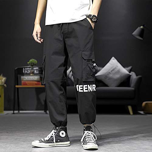 HNRLSL Pantalones Harem Cargo Hip Hop Algodón Tallas Grandes Pantalones para Hombre Pantalones Casuales para Hombres Pantalones tácticos High Street Streetwear Swag