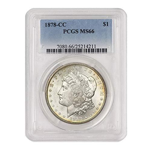 1878 CC American Silver Morgan Dollar MS-66 by CoinFolio $1 MS66 PCGS