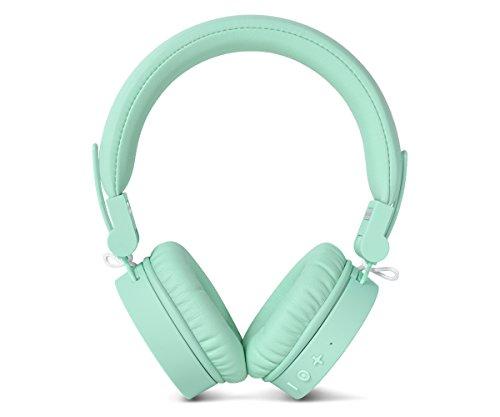 Fresh  n Rebel Caps Wireless Headphones, Cuffie Bluetooth on ear, senza fili, padiglioni morbidi e anti rumore, struttura chiudibile, microfono e telecomando integrati, cavo di riserva, verde Peppermint