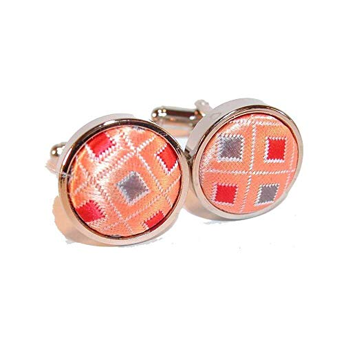 Cravate Avenue Signature - Boutons De Manchette, Disco Orange