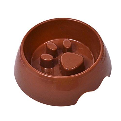 WFZ17 Cuenco para perro con huellas de huellas lentas para mascotas (alimentador ecológico)