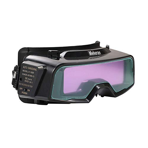 Auto Darkening Welding Goggles, View Area 4.72x1.37 Inch, Assemblable Welding Goggles with Mask Wide Shade 4/9-13, Adjustable Sensitivity Work for Cutting, Grinding for Tig Mig - TR1012