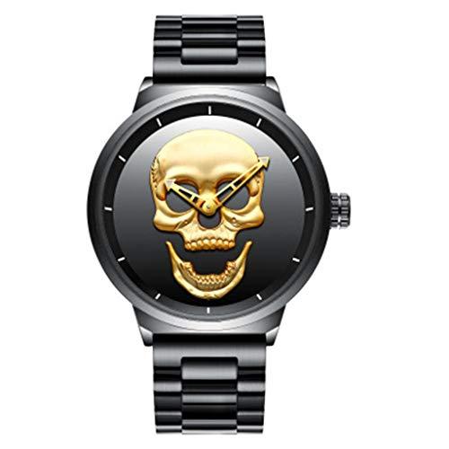 MISS YOU Reloj La Personalidad del cráneo del Reloj del Acero Correa