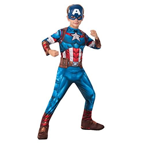 Rubie's - Déguisement Classique Officiel - Captain America, enfant, I-702563XS, Taille XS 3 à 4 ans, Bleu