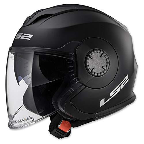 LS2 Helmets Open Face Verso Helmet (Matte Black - Medium)
