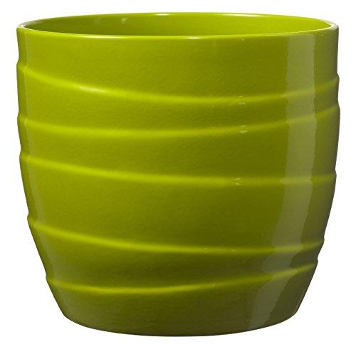 Soendgen Keramik, Barletta, Cache-Pot, Argile, Citron Vert, 16 x 16 x 15 cm
