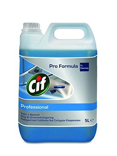 Cif Professional 7517832 Glas und Flächenreiniger, universell einsetzbar für streifenfreien Glanz, 5 L