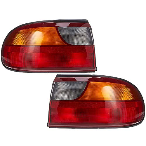 Epic Lighting OE Style Replacement Rear Brake Tail Lights Assemblies Compatible with 1997-2005 Malibu Classic Left Driver & Right Passenger Sides Pair